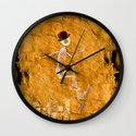 Monsieur Bone and his Skateboard Wall Clock