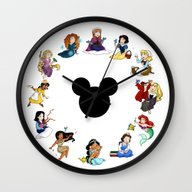 Wall Clock featuring Time To Be A Princess (A… by Katie Simpson A.k.a.…
