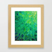SEA SCALES In GREEN - Br… Framed Art Print
