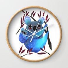 Koala Love Wall Clock