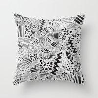 GRAPHic-MoN0T0NE Throw Pillow