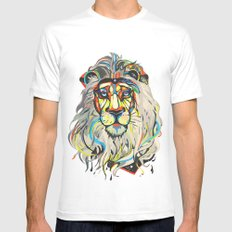 The Lion  White Mens Fitted Tee SMALL