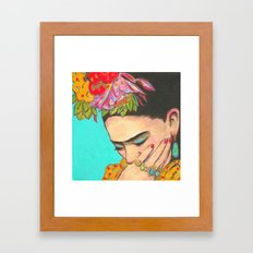 FRIDA KAHLO THINKS  Framed Art Print