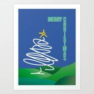 Excessive Christmas Colo… Art Print