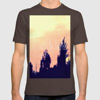 Let's Watch The Sunrise Mens Fitted Tee Brown SMALL
