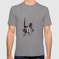 By any means necessary Mens Fitted Tee Tri-Grey SMALL