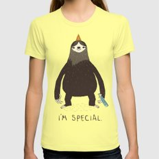 Sloth(light) Womens Fitted Tee Lemon SMALL