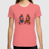 Crown Beard Twins Womens Fitted Tee Pomegranate SMALL