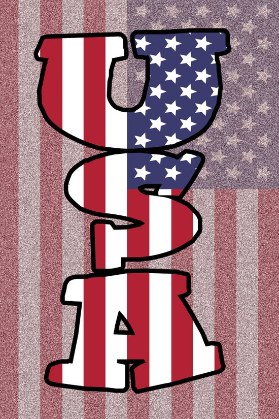 USA Stars & Stripes Art Print