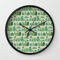 Watercolour Topiary Wall Clock