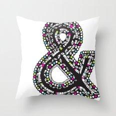 Aztec Ampersand.  Throw Pillow