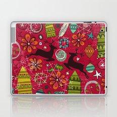 joyous jumble red Laptop & iPad Skin