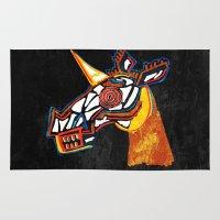 Basquiat Skull Unicorn Rug