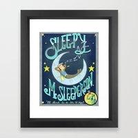 Sleepy McSleeperson Framed Art Print