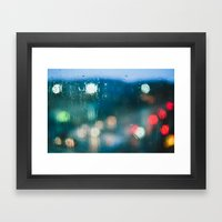 Blurred Raindrops Framed Art Print