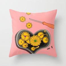 SHIFTING GEARS Throw Pillow