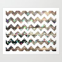 Afterparty Chevron Art Print