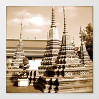 Wat Po a beautiful temple in Thailand (Bangkok & Travel) - Thai Massage School Canvas Print