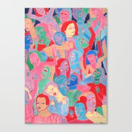 Canvas Print featuring Alien Party Hard by Clara López