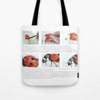Art Demo on a Cushion - Ladybug Tote Bag