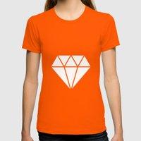 #10 Diamond Womens Fitted Tee Orange SMALL