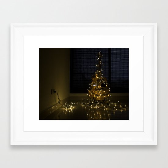 Hear the lights Framed Art Print