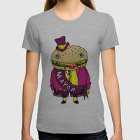 the mayor Womens Fitted Tee Athletic Grey SMALL