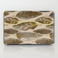 Gold Feather Pattern iPad Case