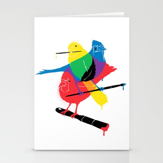 Colors of a Feather Stationery Card