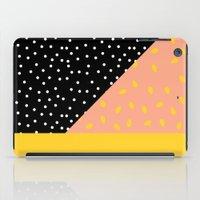 Peach Fuzz Black Polka D… iPad Case