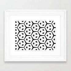 Van Trijp Black & White Pattern Framed Art Print