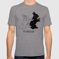 Hand-shadows Mr rabbit Mens Fitted Tee Tri-Grey SMALL