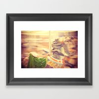 Merry-go-round from our youth Framed Art Print