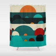 Shower Curtain featuring Sundays by Bri.buckley