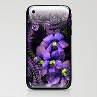 Ground Violet Fractal iPhone & iPod Skin