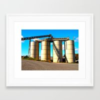 Framed Art Print featuring Industrial depot by Vorona Photography