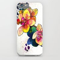 iPhone & iPod Case featuring Inky Orchid by Marcella Wylie
