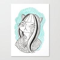 Cat Lady No. 1 Canvas Print