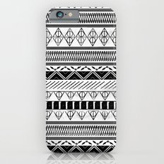 Harry Potter Inspired Tribal Print (Black and White) iPhone 6 Slim Case