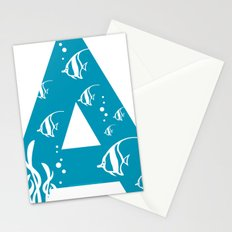 A is for Angelfish - Animal Alphabet Series Stationery Cards