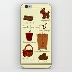Colors: brown (Los colores: marrón) iPhone & iPod Skin