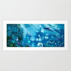 Deep Below Art Print