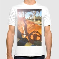 Abbie Mens Fitted Tee White SMALL