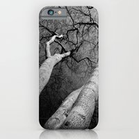 iPhone & iPod Case featuring Monochrome Trees by David Pyatt