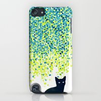 iPhone Cases featuring Cat in the garden under willow tree by Budi Kwan