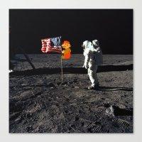 Super Mario on the Moon Canvas Print