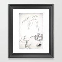 Fish And Avocado Framed Art Print