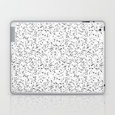 Speckles I: Double Black on White Laptop & iPad Skin
