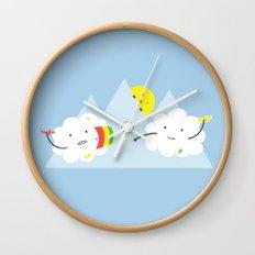 Cloud Fight Wall Clock