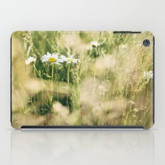Oxeye Daisy among wild grasses. Norfolk, UK. iPad Case